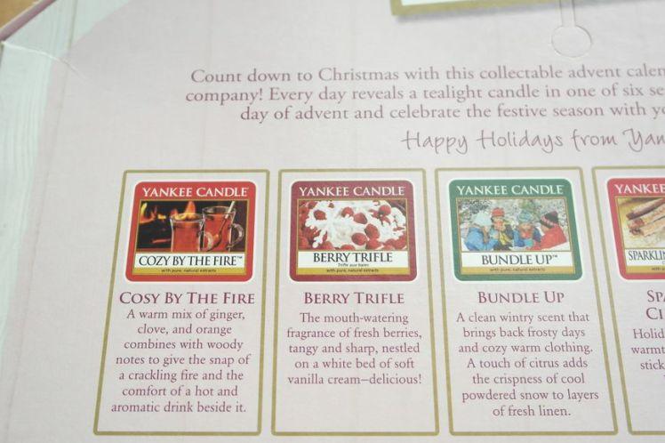 Yankee Candle Calendrier de l'Avent - Advent Calendar E