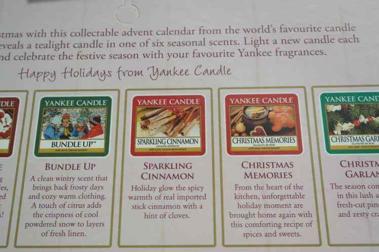 Yankee Candle Calendrier de l'Avent - Advent Calendar F