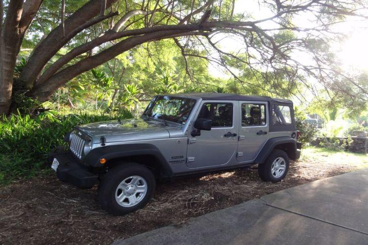Voyage de noces à Hawaï - Big Island - Vernie par la Vie - ZZD - Voiture de location Jeep Wrangler
