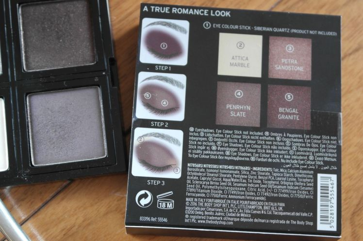 The Body Shop - A true romance - Eyeshadow palette - Fards à paupières D.jpg