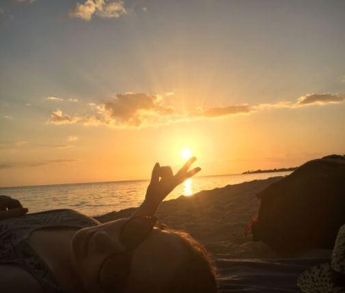 Trinidad - Playa Ancon - Coucher de soleil