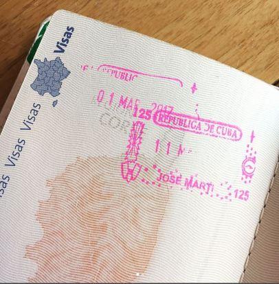 Visa Cuba Stamp