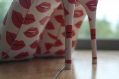 Escarpins bisous rouge a levres Aldo rouge blanc (7)