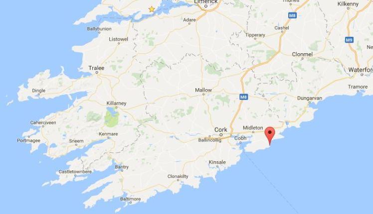 Carte Irlande Comté Cork 2